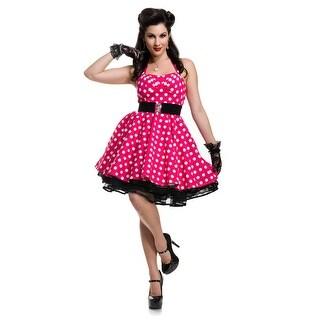 Women's Pink Polka Dot Pin Up Costume