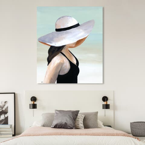 Oliver Gal 'Island Breeze' Fashion and Glam Wall Art Canvas Print Accessories - White, Black