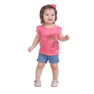 Pulla Bulla Baby Girl Shirt Infant Kitty Graphic Tee (3 options available)