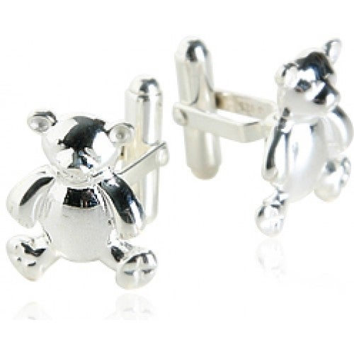 Teddy Bear Cufflinks In Sterling Silver Animal