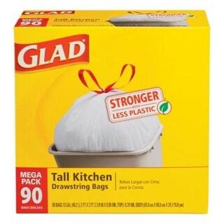 Glad 78536 Drawstring Trash Bags, 13 Gallon