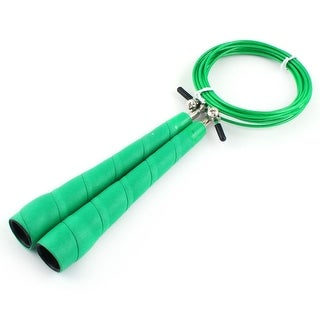 LeTEK Authorized Home Gym Sports Jumping Rope Skipping Exercise Cable Wire Green