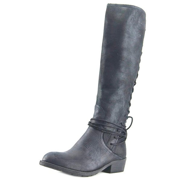Very Volatile Marcelina Women Round Toe Synthetic Black Knee High Boot