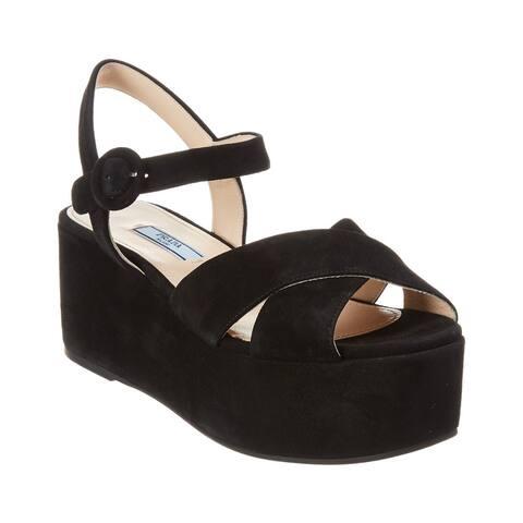 Prada Suede Platform Sandal