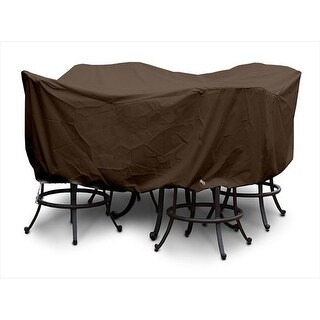 Weathermax Large Bar Set Cover, Chocolate - 84 Dia x 40 H in.