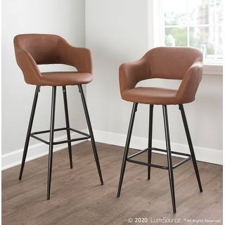Link to Margarite Contemporary Upholstered Counter Stool (Set of 2) - N/A Similar Items in Dining Room & Bar Furniture