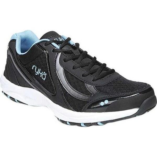 b556e4b6cd6e47 Shop Ryka Women s Dash 3 Walking Shoe Black Meteorite Blue Leather ...