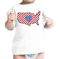 USA Map Cute 4th Of July Decorative Cute Baby T-Shirt New Mom Gifts