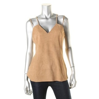 Bailey 44 Womens Leather Criss-Cross Tank Top - L