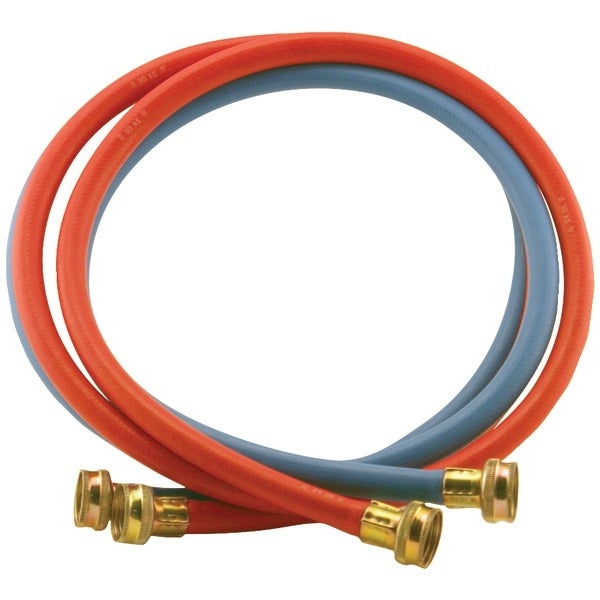 Certified Appliance Wm48Rbr2Pk Red/Blue Edpm Rubber Washing Machine Hoses, 2 Pk (4Ft)