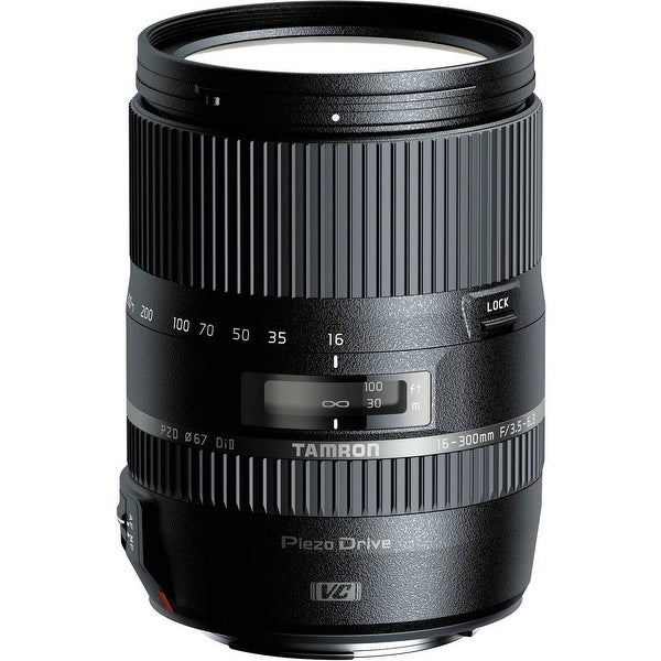 Tamron 16-300mm f/3.5-6.3 Di II PZD MACRO Lens for Sony (International Model) - Black