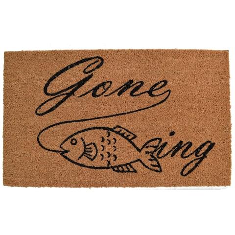 Gone Fishing Outdoor DoorMat