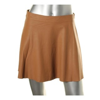 Joie Womens Goat Leather Mini A-Line Skirt