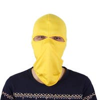 Motorcycle Two Holes Full Face Mask Cover Neck Protecting Balaclava Hat Yellow