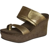 Otbt Womens Brookfield Fashion Wedge Sandals - Gold
