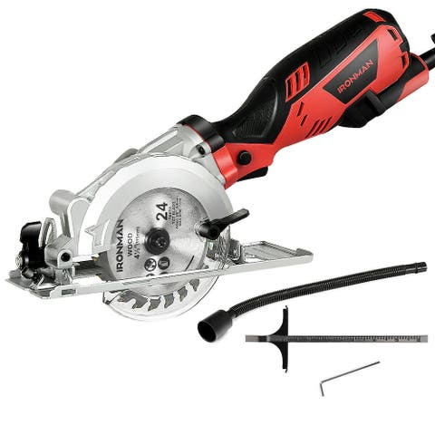 "Electric Mini 4-1/2"" Circular Saw 3500 RPM Handheld Cutting Tool"