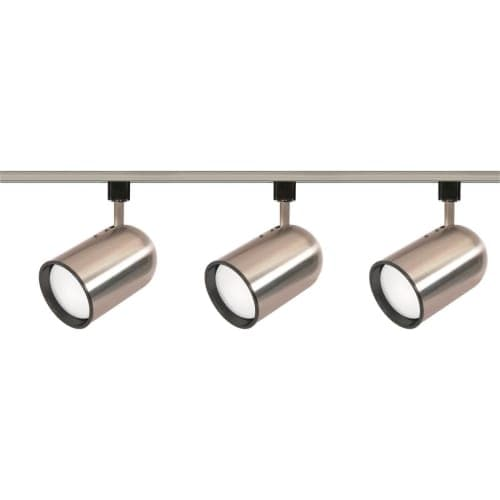 Nuvo Lighting TK342 Three Light R30 Bullet Cylinder Track Kit - Brushed nickel