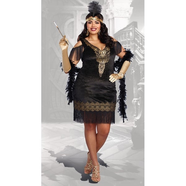 467dd0bac2 Shop Plus Size Swanky Flapper Costume - As Shown - Free Shipping Today -  Overstock - 17826211