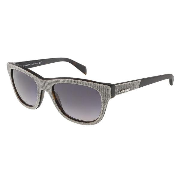 Diesel DL0111/S 52B Grey Denim/Matte Black Wayfarer sunglasses - 52-18-140