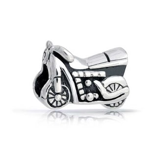 Bling Jewelry Motorcycle Charms Antique Styled Sterling Silver Sports Bead for European Bracelet