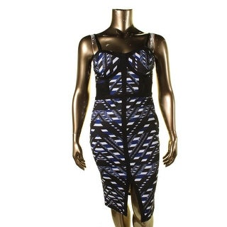 Material Girl Womens Juniors Printed Party Clubwear Dress - XL