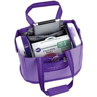"""Decorator Preferred Carry-All Tote-10""""X17.5""""X14"""" Purple"""