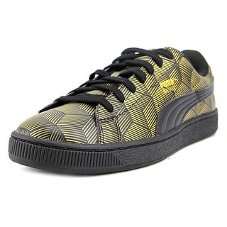 Puma Basket Classic Metallic Men   Synthetic Gold Fashion Sneakers