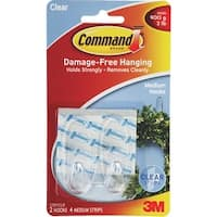 3M 2Pk Command Clr Med Hook