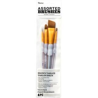 Brown Taklon Brush Set-Assorted 4/Pkg