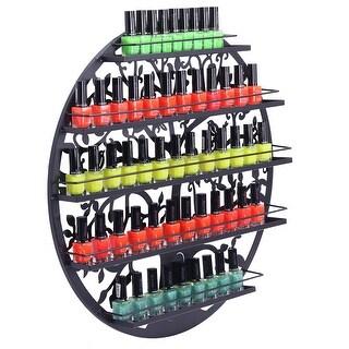 Link to 5 Tier Metal Circular Nail Polish Display Organizer Wall Rack Holder - Black Similar Items in Nail Care