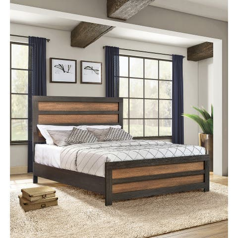 Lawrence Caramel and Licorice Panel Eastern King Bed
