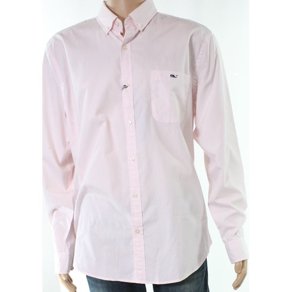 82684cc7dbb Shop Vineyard Vines Pink Mens Size XL Pinstriped Button Down Shirt - Free  Shipping Today - Overstock - 27691636