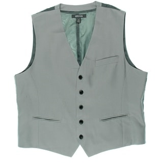 Kenneth Cole Reaction Mens Lined 5-Button Front Suit Vest - XXL