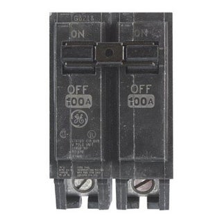 "GE THQL21100 Double Pole Circuit Breaker, 100 Amp, 2"""