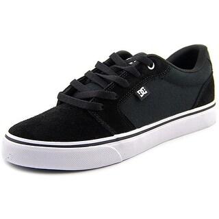 DC Shoes Anvil Men Round Toe Suede Black Skate Shoe