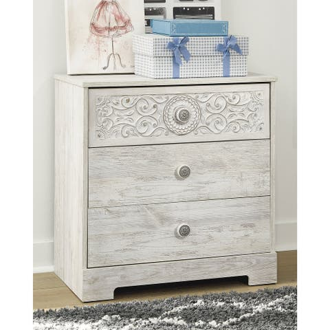 Paxberry Whitewash Three Drawer Chest