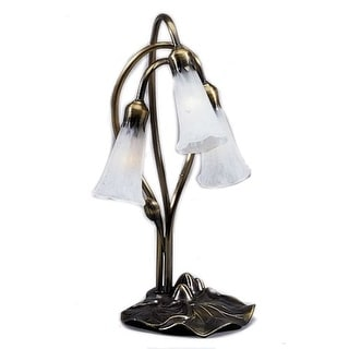 Meyda Tiffany 15282 Stained Glass / Tiffany Desk Lamp from the Lilies Collection