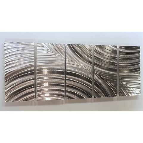 Statements2000 Etched Silver Modern Metal Wall Art Indoor/Outdoor Panels by Jon Allen - Synchronicity