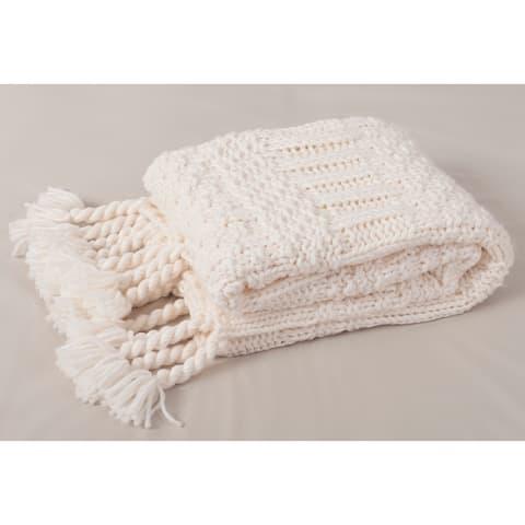 Hand Chunky Sweater Knit Throw