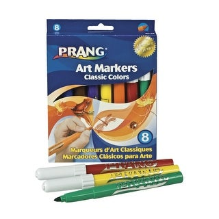 Prang Classic Non-Toxic Washable Art Marker, Bullet Tip, Assorted Colors, Pack of 8