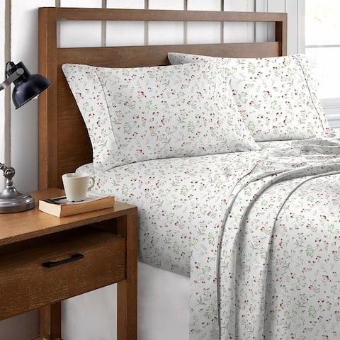 Brielle Home Cotton Percale Printed Sheet Set