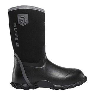 LaCrosse Children's Lil' Alpha Lite 5.0mm Waterproof Boot - Big Kid Black