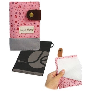 Floral Print 20 Card Credit Slim Holder Book Wallet for Women, Secure and Safe Card Sleeve for ID Card, with Snap Clasp