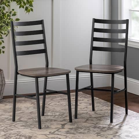 Carbon Loft Ladder Back Dining Chair, Set of 2