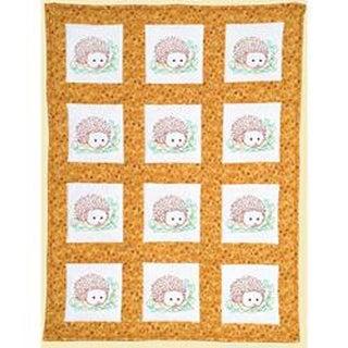 Hedgehogs -Quilt Blocks 9X9 Wh