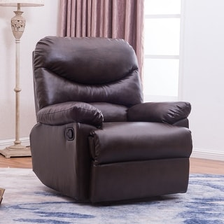 Belleze Recliner Living Room Chair Faux Leather Lounge Padded Armrest (Brown) & Modern Recliner Chairs u0026 Rocking Recliners - Shop The Best Deals ... islam-shia.org