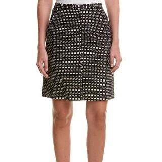 Anne Klein NEW Black White Women's 14 Printed Straight Pencil Skirt