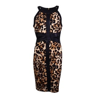 Thalia Sodi Women's Printed Faux leather Dress - Leopard