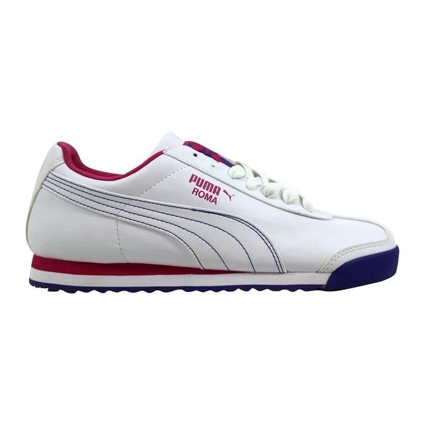 99c6b4335e10d Shop Puma Women's Roma Basic White/Cabaret-Blue 353573 10 Size 8 ...