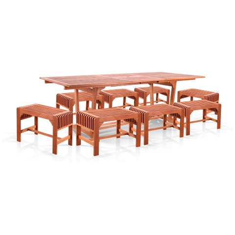 Surfside 9-piece Dining Set with Extension Table by Havenside Home